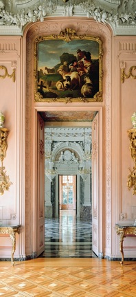 Schloss Benrath - Blick durch die Räume